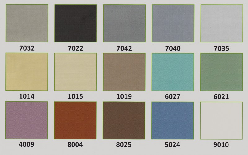 Värikartta Polyuretaanimaali W 1